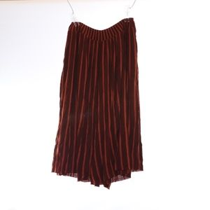 Free People Brown Stripe Pants Dress M